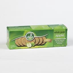 Bolacha integral, maçã