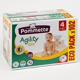 Fraldas para bebé, agility ecológicas, tamanho 4, 7-...