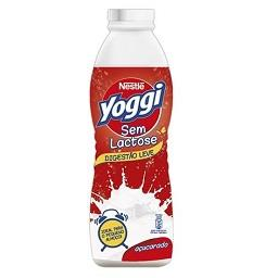 Iogurte líquido, yoggi sem lactose, natural açucarad...