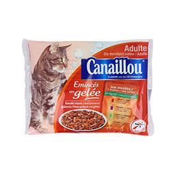 Alimento húmido para gato, saqueta de geleia