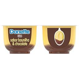 Sobremesa danette duo baunilha e caramelo
