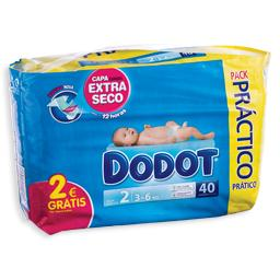 Fraldas para bebé 3d, 3-6 kilos, 40 unidades