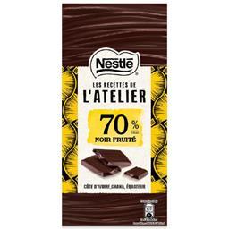 Tablete de chocolate preto 70% cacau les recettes de...