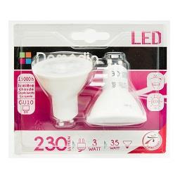 Lâmpada LED Refletora 3W GU10 X2 220-240V