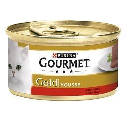 Comida húmida para gato mousse com vaca