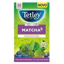 Chá verde matcha mirtilo