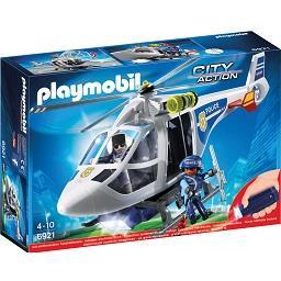 Helicóptero da polícia com luz led