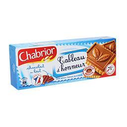 Bolachas com recheio de chocolate