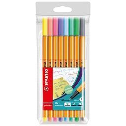 Marcadores point 88 pastel cores sortidas