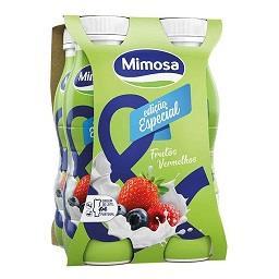 Iogurte líquido aroma a frutos vermelhos