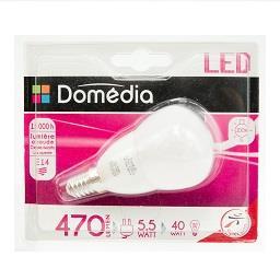 Lâmpada LED Forma Esférica 5.5W E14 220-240V