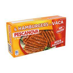 4 Hamburgers de Vaca