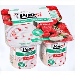 Iogurte pedaços morango