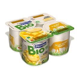 Iogurte bio manga e baunilha