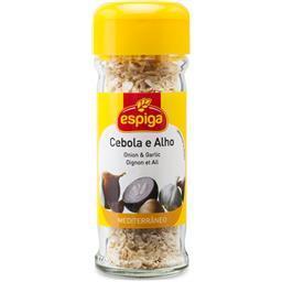 Frasco de cebola e alho