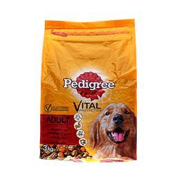 Alimento seco p/ cão croquetes vaca