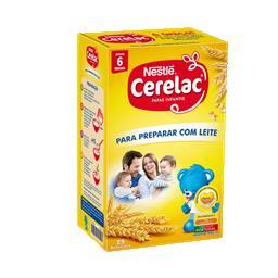 Papa infantil para preparar com leite +6 meses