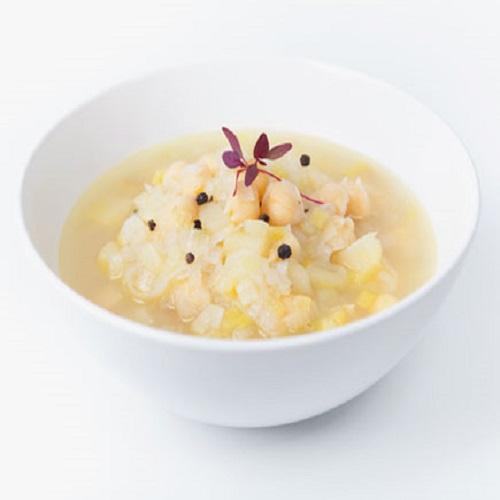 Sopa de Alho Francês com Grão